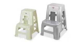 چهارپایه پلاستیکی دو پله طرح دار
