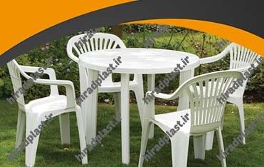 میز و صندلی پلاستیکی گرد