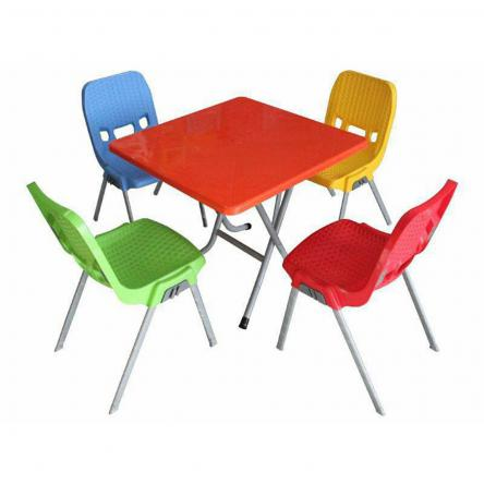 میز و صندلی پلاستیکی رنگی