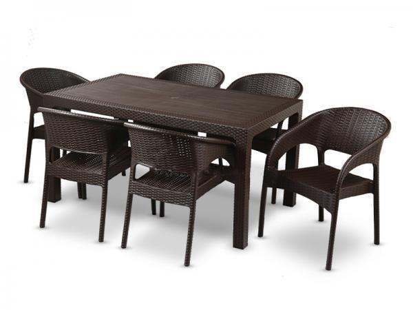 میز پلاستیکی 6 نفره